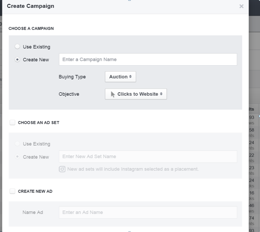 Screenshot - How to Create Campaign in Power Editor